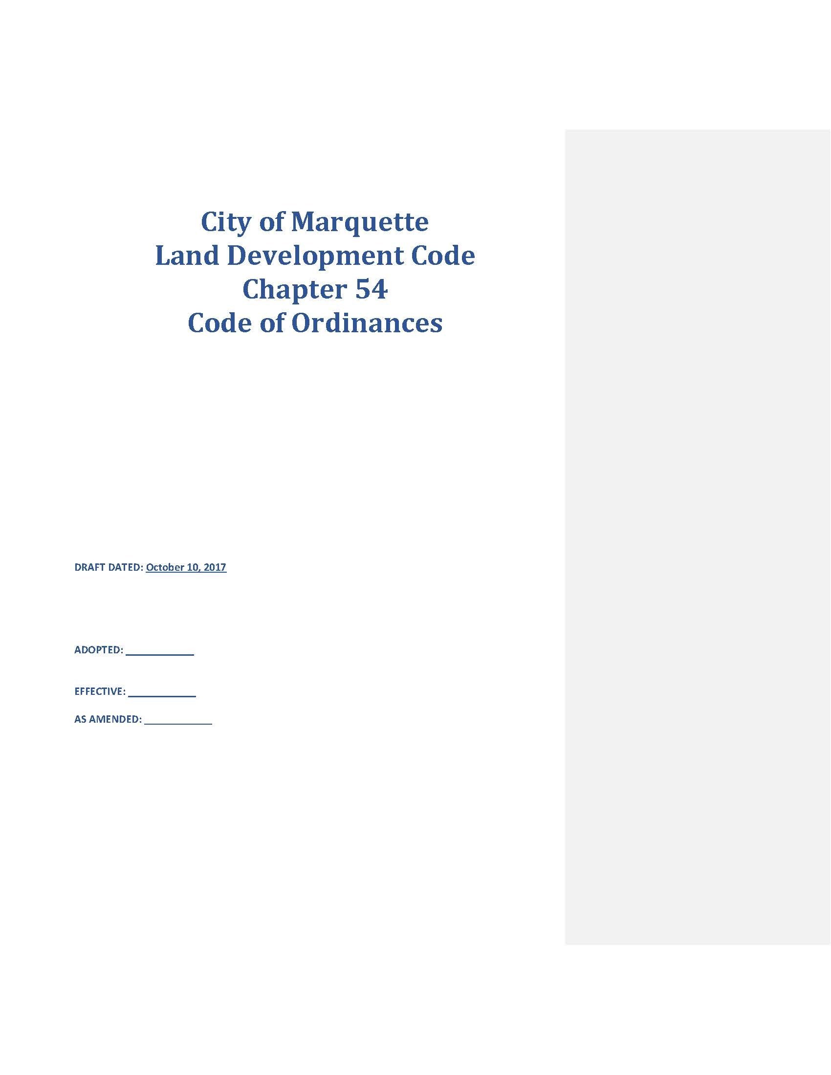 Cover Pages from Land Development Code (20171010)-CITY FIRST DRAFT