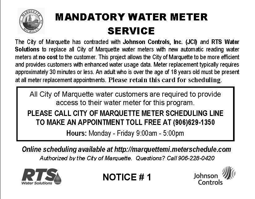 Mandatory Water Meter Service Postcard