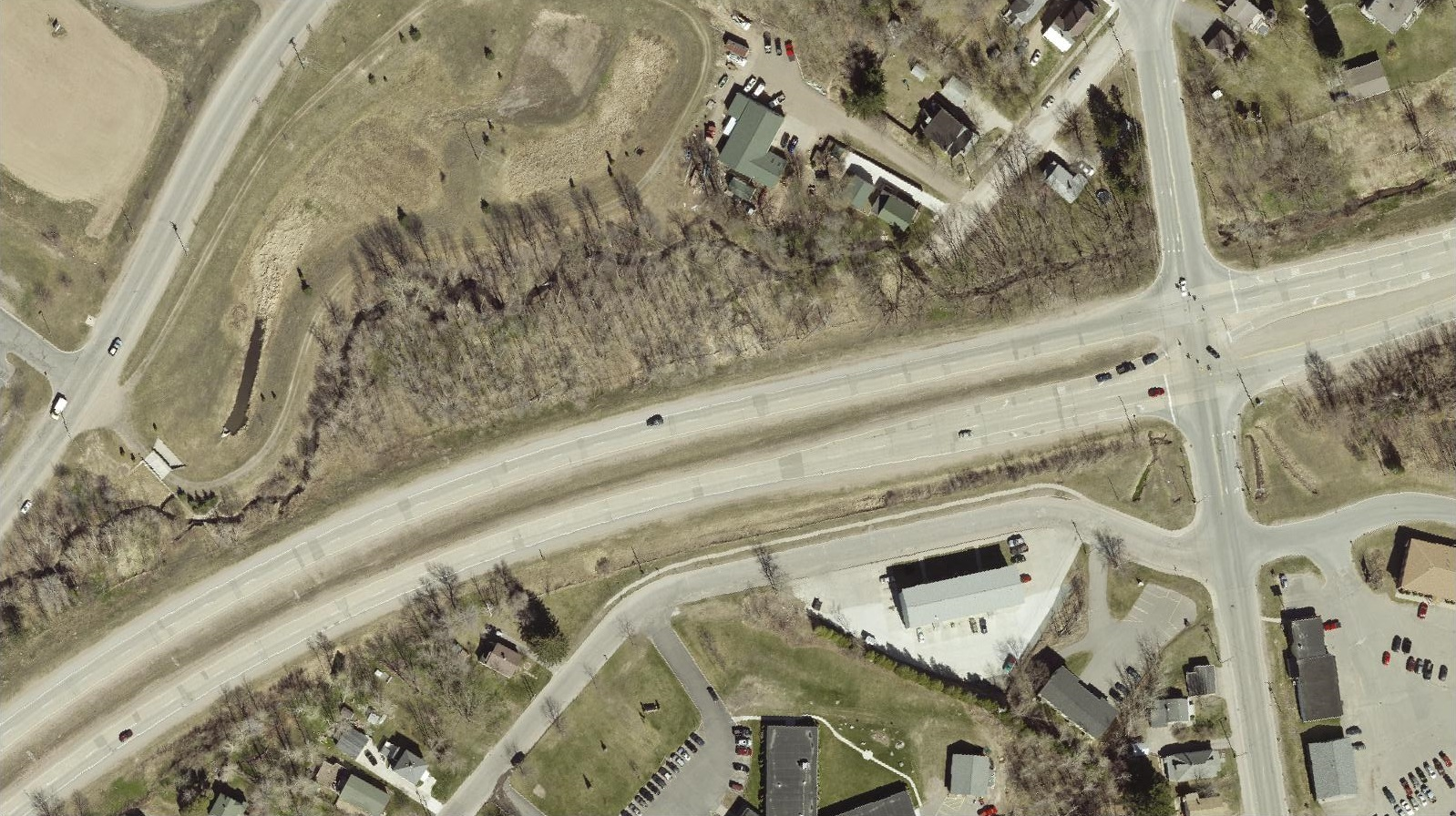 US41 roundabouts - aerial before