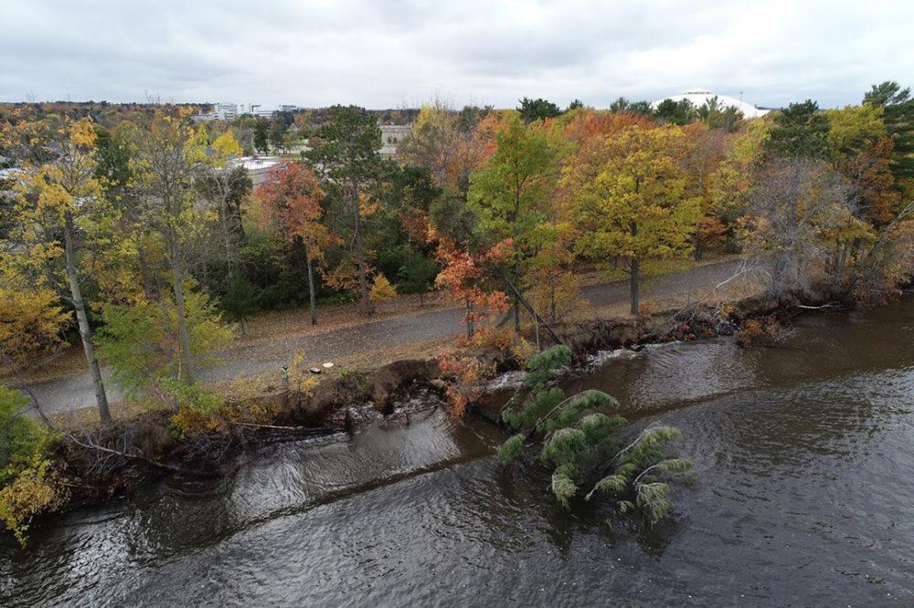 Lakeshore Erosion Aerial