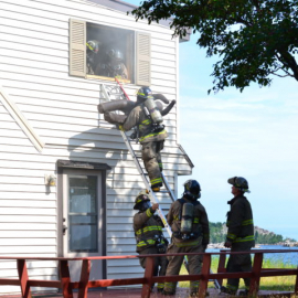 Island Beach Training- ladder rescue with mannequin- Aug 2018