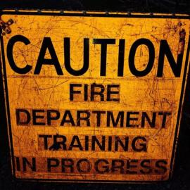 Caution Training Sign