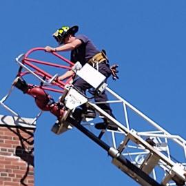 Aerial Ladder Training-Slifka on ladder
